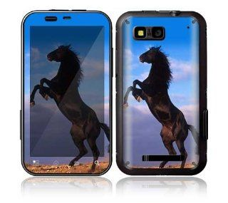 Motorola Defy Decal Phone Skin Decorative Sticker w/ Matching Wallpaper   Animal Mustang Horse: Cell Phones & Accessories