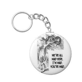 Alice in Wonderland Cheshire Cat Items Key Chains