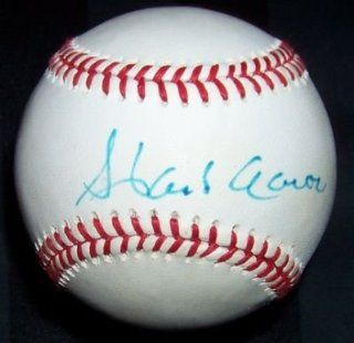 Hank Aaron Signed Baseball   Eddie Mathews   Autographed Baseballs at 's Sports Collectibles Store