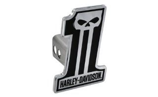 Harley Davidson Car Truck SUV Hitch Plug Cover Receiver   #1 Logo Skull w/ Script: Automotive