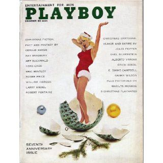 Rare Find, Near Mint Playboy December 1960 Seventh Anniversary Edition Featuring Marilyn Monroe Pictorial: Hugh Hefner: Books