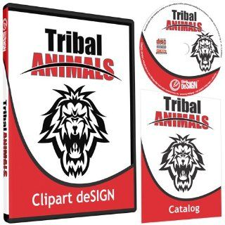 Tribal Animals Clipart Vinyl Cutter Plotter Clip Art Graphics Digital Sign Design Images EPS Vector Art Software CD ROM: Software