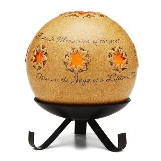 Comfort Candles Joy of a Lifetime by Pavilion Tea Light Candle and Stand, 6 1/2 Inch, Flower Pierced Round   Tea Light Holders