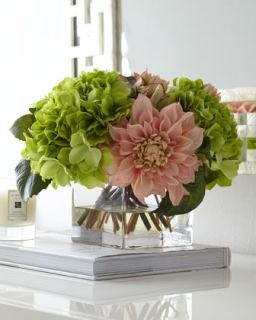 Pale Pink & Green Faux Floral Arrangement   John Richard Collection