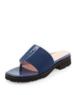 Torte Patent Thong Slide, Blue   Taryn Rose   Delf blue (35.0B/5.0B)