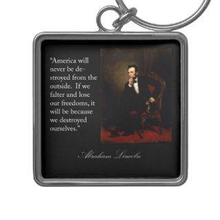 Abraham Lincoln Quote & Portrait Key Chains