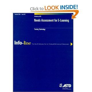 Needs Assessment for E Learning (Infoline ASTD) (9781562862688): Samantha Chapnick: Books