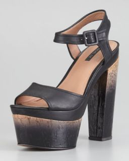 Evelyn Degrade Heeled Sandal   Rachel Zoe   Black (41.0B/11.0B)