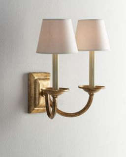 Double Arm Flemished Sconce   VISUAL COMFORT