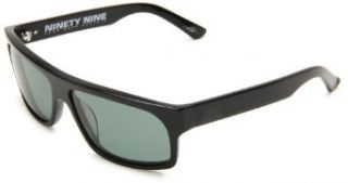 Electric Visual Ninety Nine Polarized Rectangle Sunglasses,Gloss Black Frame/Grey Polar Lens,One Size: Clothing