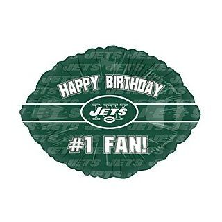 """Happy Birthday #1 Fan!"" New York Jets Football Logo NFL Green 18"" Balloon Mylar: Health & Personal Care"