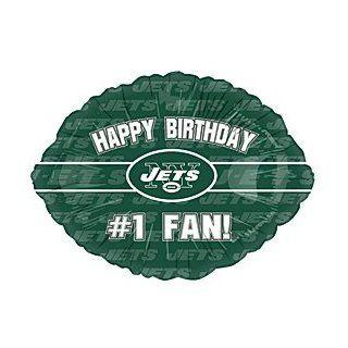 """Happy Birthday #1 Fan"" New York Jets Football Logo NFL Green 18"" Balloon Mylar Health & Personal Care"