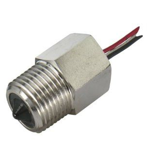"Gems Sensors 194472 Nickel Plated Steel Single Point Electro Optic Level Switch with Dry Probe, 1/2"" NPT Male, 12 VDC, Normally Closed: Industrial Flow Switches: Industrial & Scientific"