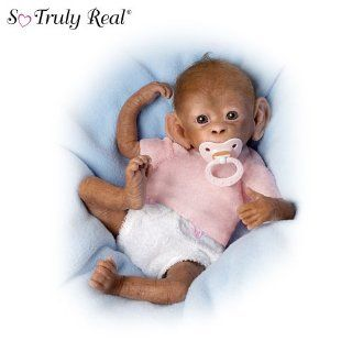 "Coco So Truly Real Baby Monkey Doll   16"" by Ashton Drake   Real Like Monkey"