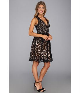 French Connection Daisy Chain Lace 71AHD Black Lace/Warm Nougat