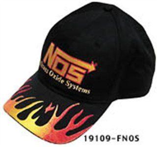 NOS 19109F NOS Cotton Flame Designed Ball Cap with NOS Logo Automotive