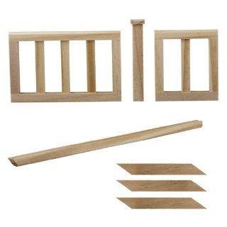 Dollhouse Miniature 7 Pc. Stair Rail And Landing Set: Toys & Games