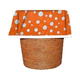 "Designerliners Orange Polka Dot Decorative Eco Green Biodegradable Plastic Waste Basket Trash Bags   For Baby, Nursery, Child's Room, Bathroom.   ""Dress the Mess""   12 Pack   5 6 Gallons   17.75 X 19   USA Made   Wastebasket Trash Bags"