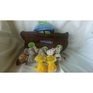 Avon Tiny Tillia Noah Ark Boat with 7 animals plush soft baby toddler  Plush Animal Toys  Baby