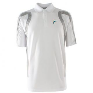 NFL Men's Miami Dolphins Point Desert Dry Polo Shirt (White/Silver, Small) : Sports Fan Polo Shirts : Clothing