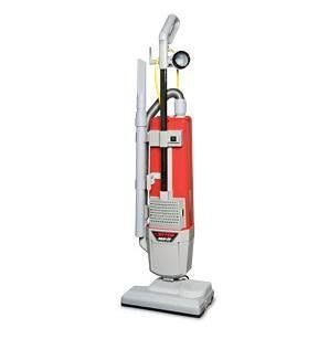 """Betco E88820 00 HF14   14"""" Dual Motor Upright HEPA Vacuum, Includes Attached 50' Safety Yellow Power Cord, On Board Tool   Household Upright Vacuums"""