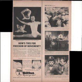 Allen A Dittos Men's Underwear Freedom Of Movement 1954 Antique Advertisement : Prints : Everything Else