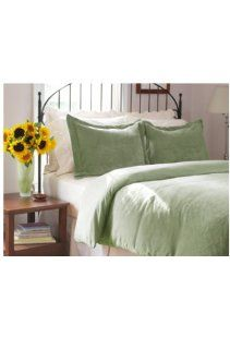 Berkshire Serasoft Oversized Full/Queen Duvet Cover Set, Sage