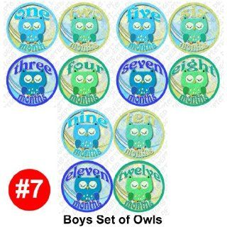 BOYS OWLS Baby Month Onesie Stickers Baby Shower Gift Photo Shower Stickers, baby shower gift by OnesieStickers : Baby Keepsake Products : Baby