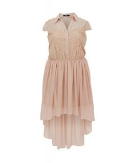 Koko Nude Dip Hem Lace Dress