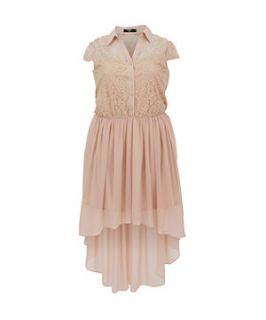 Koko Nude Dip Hem Lace Dress