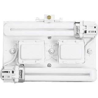 Progress Lighting P7200 30 Surface Mount Backplate Mounts Directly Onto Junction Box with Standard 120 Volt High Power Factor Ballasts, White   Decorative Ceiling Medallions