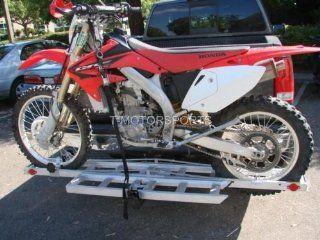 Motorcycle Dirt Bike Carrier Trailer SUV RV Hauler Rack with Ramp: Automotive