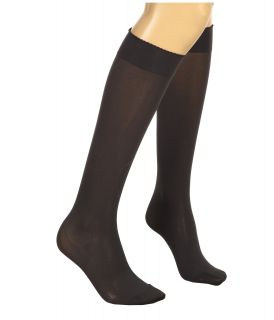 Wolford Velvet De Luxe 50 Knee Highs Anthracite