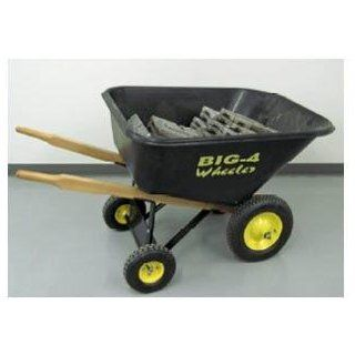 Big 4 Wheeler Heavy Duty Wheelbarrow, 6 Cubic Feet : Wheel Barrels : Patio, Lawn & Garden