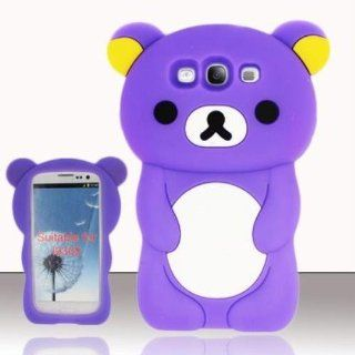 Purple Cartoon Bear SC for SAMSUNG Samsung Galaxy S3 III i9300: Cell Phones & Accessories