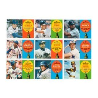 "2008 Topps ""50th Anniversary All star Rookie"" Baseball Complete Mint 55 Card Insert Set. Loaded with Past, Present and Future Stars Including Tom Seaver, Ozzie Smith, Joe Mauer, Jeff Francouer, Manny Ramirez, Shawn Green, Derek Jeter, Ichiro Suzu"