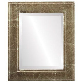 wood Rectangle Beveled Wall Mirror in a Gold Montreal style Champagne Gold Frame 17x21 outside dimensions   Wall Mounted Mirrors