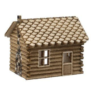 Dollhouse Miniature Mini Log Cabin Kit: Toys & Games