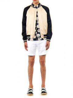 Contrast panel satin bomber jacket  Marc by Marc Jacobs  MAT