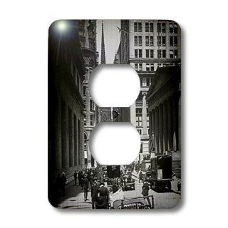 3dRose lsp_77350_6 Sub Treasury Old Trinity Church Wall Street New York City Glass Slide 2 Plug Outlet Cover   Outlet Plates