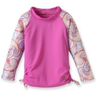 Outside Baby Rash Guard Girl, Pink Paisley, 3 9 Months Clothing