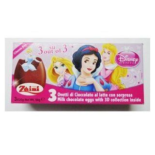 Zaini Disney PRINCESS chocolate egg treats with TOY  3 per box Made in ITALY SHIPPING FROM USA  Chocolate Truffles  Grocery & Gourmet Food