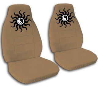 2 Yin Yang seat covers. Brown seat covers for a 2000 VW Beetle. Please contact us if you have side airbags: Automotive