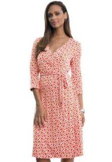 Jessica London Women's Plus Size Wrap Dress Bright Orange Print, 14