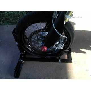 1000 Lb Motorcycle Trailer Wheel Chock Bike Stand Truck Floor Towing Transport: Automotive