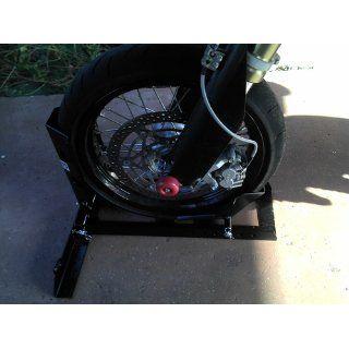 1000 Lb Motorcycle Trailer Wheel Chock Bike Stand Truck Floor Towing Transport: Automotive