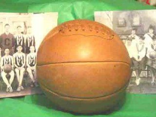 1890 1920 Antique Style Laced Leather Basketball from Past Time Sports : Sports & Outdoors