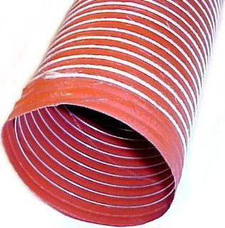 4.5' ID Single Ply Orange Silicone Duct Hose (12ft) Automotive