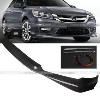 14 Honda Accord 4DR Sedan Modulo Style Front Body PP Bumper Lip Spoiler Kit: Automotive