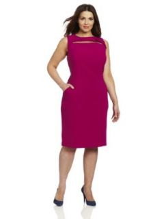 Anne Klein Women's Plus Size Sheath Dress, Pink, 16W